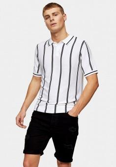 Шорты джинсовые, Topman, цвет: черный. Артикул: TO030EMJECP5.