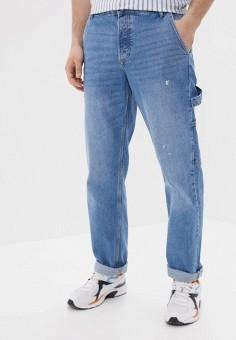 Джинсы, Topman, цвет: голубой. Артикул: TO030EMJGIS1. Одежда / Джинсы / Прямые джинсы