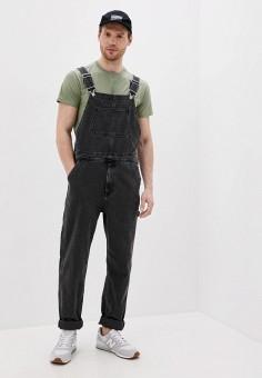 Комбинезон джинсовый, Topman, цвет: черный. Артикул: TO030EMJNZY1.
