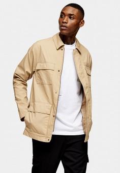 Куртка, Topman, цвет: бежевый. Артикул: TO030EMJNZZ3.