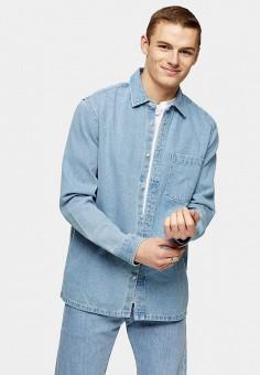 Рубашка, Topman, цвет: голубой. Артикул: TO030EMJOAB1.