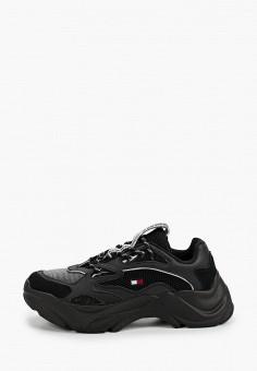 Кроссовки, Tommy Jeans, цвет: черный. Артикул: TO052AMHUYF3. Обувь / Кроссовки и кеды