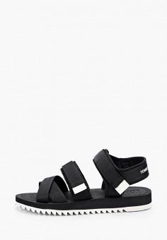 Сандалии, Tommy Jeans, цвет: черный. Артикул: TO052AMHUYH0. Обувь