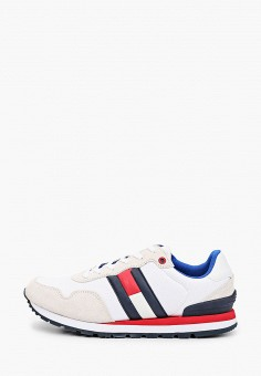 Кроссовки, Tommy Jeans, цвет: белый. Артикул: TO052AMIZVT9. Обувь