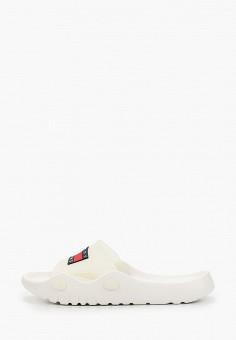 Сланцы, Tommy Jeans, цвет: белый. Артикул: TO052AWHVEU1. Обувь / Резиновая обувь