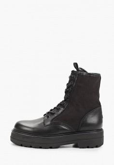 Ботинки, Tommy Jeans, цвет: черный. Артикул: TO052AWIYYF7. Обувь / Ботинки / Высокие ботинки