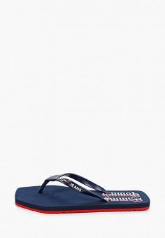 Сланцы, Tommy Jeans, цвет: синий. Артикул: TO052AWIYYF9. Обувь / Резиновая обувь