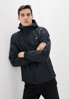 Ветровка, Tommy Jeans, цвет: черный. Артикул: TO052EMHJQA4. Одежда / Верхняя одежда