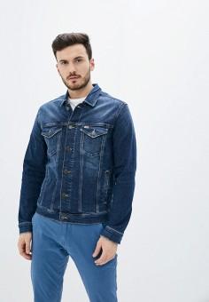 Куртка джинсовая, Tommy Jeans, цвет: синий. Артикул: TO052EMHJQG4. Одежда / Верхняя одежда / Джинсовые куртки
