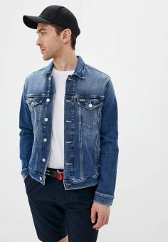 Куртка джинсовая, Tommy Jeans, цвет: синий. Артикул: TO052EMHJQG5. Одежда / Верхняя одежда / Джинсовые куртки