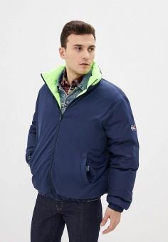 Куртка утепленная, Tommy Jeans, цвет: зеленый, синий. Артикул: TO052EMHJRD5. Одежда / Верхняя одежда / Демисезонные куртки