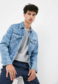 Куртка джинсовая, Tommy Jeans, цвет: голубой. Артикул: TO052EMJJBU2. Одежда / Верхняя одежда / Джинсовые куртки