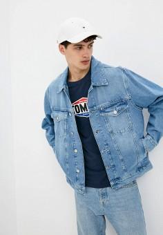 Куртка джинсовая, Tommy Jeans, цвет: голубой. Артикул: TO052EMJJBY9. Одежда / Верхняя одежда / Джинсовые куртки