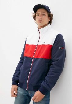 Куртка утепленная, Tommy Jeans, цвет: мультиколор. Артикул: TO052EMJJBZ9. Одежда / Верхняя одежда / Демисезонные куртки
