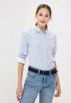 Рубашка, Tommy Jeans, цвет: голубой. Артикул: TO052EWBIDC5. Одежда / Блузы и рубашки / Рубашки