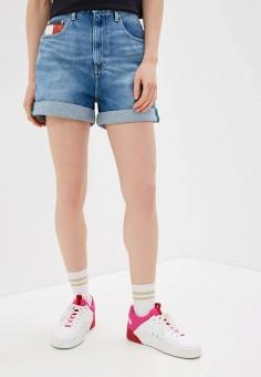 Шорты джинсовые, Tommy Jeans, цвет: голубой. Артикул: TO052EWHMJN0. Одежда / Шорты