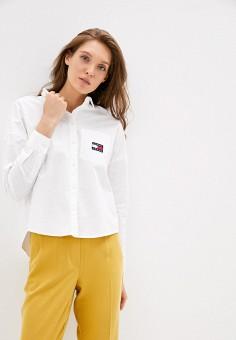 Рубашка, Tommy Jeans, цвет: белый. Артикул: TO052EWHMJS5. Одежда / Блузы и рубашки / Рубашки