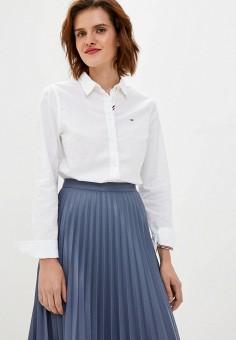 Рубашка, Tommy Jeans, цвет: белый. Артикул: TO052EWJJCS5. Одежда / Блузы и рубашки