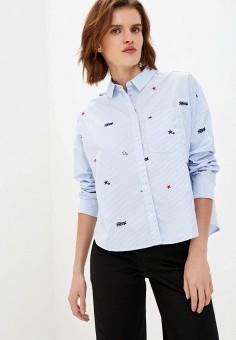 Рубашка, Tommy Jeans, цвет: голубой. Артикул: TO052EWJJCS9. Одежда / Блузы и рубашки / Рубашки