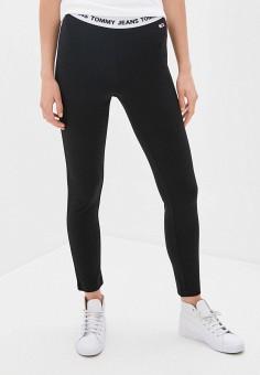 Леггинсы, Tommy Jeans, цвет: черный. Артикул: TO052EWJWJM0. Одежда / Брюки / Леггинсы