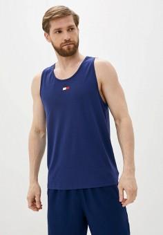 Майка спортивная, Tommy Sport, цвет: синий. Артикул: TO058EMIYYI5. Одежда / Майки