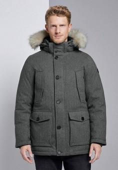 Куртка утепленная, Tom Tailor, цвет: серый. Артикул: TO172EMGBEP0. Одежда / Верхняя одежда / Пуховики и зимние куртки / Зимние куртки
