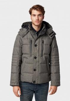 Куртка утепленная, Tom Tailor, цвет: серый. Артикул: TO172EMGBEP4. Одежда / Верхняя одежда / Пуховики и зимние куртки