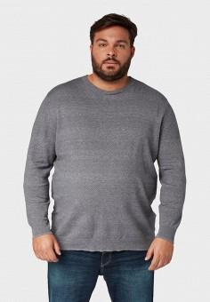 Джемпер, Tom Tailor, цвет: серый. Артикул: TO172EMGBFV5. Одежда / Джемперы, свитеры и кардиганы / Джемперы и пуловеры