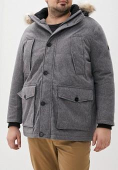 Куртка утепленная, Tom Tailor, цвет: серый. Артикул: TO172EMGBFZ0. Одежда / Верхняя одежда / Пуховики и зимние куртки