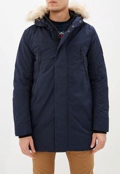 Куртка утепленная, Tom Tailor, цвет: синий. Артикул: TO172EMHQXG4. Одежда / Верхняя одежда / Пуховики и зимние куртки / Зимние куртки