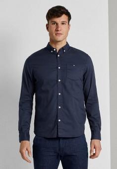Рубашка, Tom Tailor, цвет: синий. Артикул: TO172EMIAZS3. Одежда / Рубашки / Рубашки с длинным рукавом
