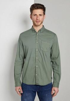 Рубашка, Tom Tailor, цвет: зеленый. Артикул: TO172EMIAZS6. Одежда / Рубашки / Рубашки с длинным рукавом