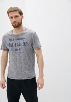 Футболка, Tom Tailor, цвет: серый. Артикул: TO172EMIBAL4. Одежда / Футболки и поло