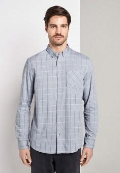 Рубашка, Tom Tailor, цвет: серый. Артикул: TO172EMIBAY4. Одежда / Рубашки / Рубашки с длинным рукавом