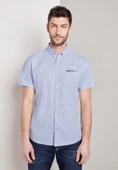 Рубашка, Tom Tailor, цвет: голубой. Артикул: TO172EMIBBV7. Одежда / Рубашки