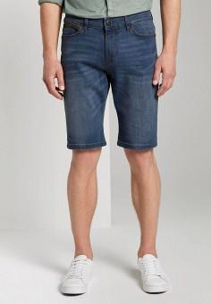 Шорты джинсовые, Tom Tailor, цвет: синий. Артикул: TO172EMIBBX9. Одежда / Шорты