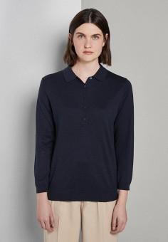 Джемпер, Tom Tailor, цвет: синий. Артикул: TO172EWHQCG7. Одежда / Джемперы, свитеры и кардиганы / Джемперы и пуловеры / Джемперы