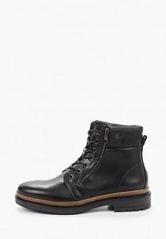 Ботинки, Tommy Hilfiger, цвет: черный. Артикул: TO263AMFVVB8. Обувь / Ботинки / Высокие ботинки