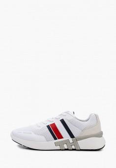 Кроссовки, Tommy Hilfiger, цвет: белый. Артикул: TO263AMHUYL0.