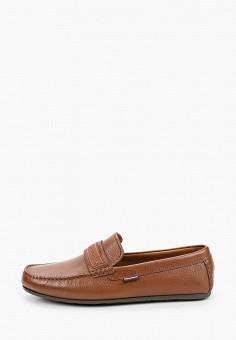 Мокасины, Tommy Hilfiger, цвет: коричневый. Артикул: TO263AMIZVZ8. Обувь / Мокасины и топсайдеры