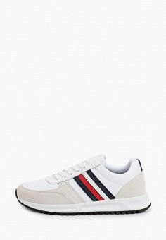 Кроссовки, Tommy Hilfiger, цвет: белый. Артикул: TO263AMJAVA9. Обувь / Кроссовки и кеды