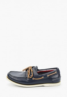 Топсайдеры, Tommy Hilfiger, цвет: синий. Артикул: TO263AMJAXI5. Обувь / Мокасины и топсайдеры