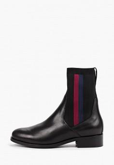 Полусапоги, Tommy Hilfiger, цвет: черный. Артикул: TO263AWFIKZ9. Обувь / Сапоги / Полусапоги