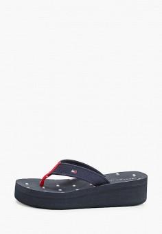 Сланцы, Tommy Hilfiger, цвет: синий. Артикул: TO263AWHLUQ0. Обувь / Резиновая обувь