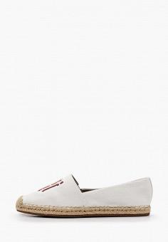 Эспадрильи, Tommy Hilfiger, цвет: белый. Артикул: TO263AWHVDJ6. Обувь / Эспадрильи