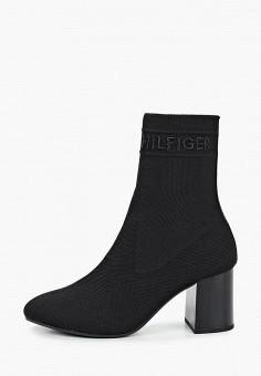 Ботильоны, Tommy Hilfiger, цвет: черный. Артикул: TO263AWIYWN3. Обувь