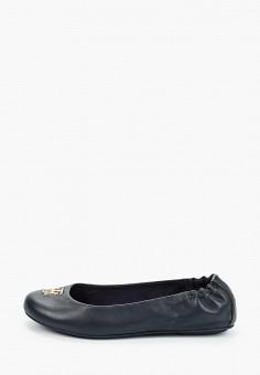 Балетки, Tommy Hilfiger, цвет: синий. Артикул: TO263AWIYWP0. Обувь / Балетки