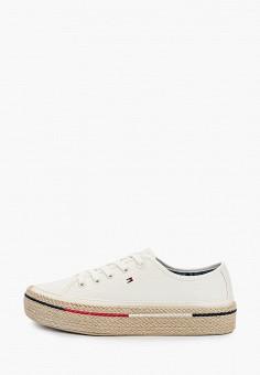 Эспадрильи, Tommy Hilfiger, цвет: белый. Артикул: TO263AWIYWP2. Обувь / Эспадрильи