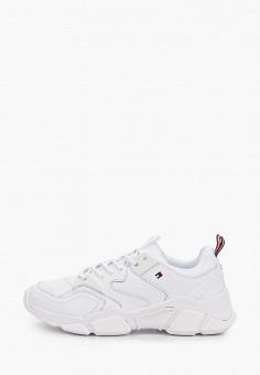 Кроссовки, Tommy Hilfiger, цвет: белый. Артикул: TO263AWIYYF4. Обувь / Кроссовки и кеды