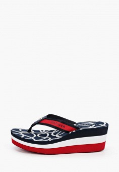 Сланцы, Tommy Hilfiger, цвет: синий. Артикул: TO263AWJJQI2. Обувь / Резиновая обувь